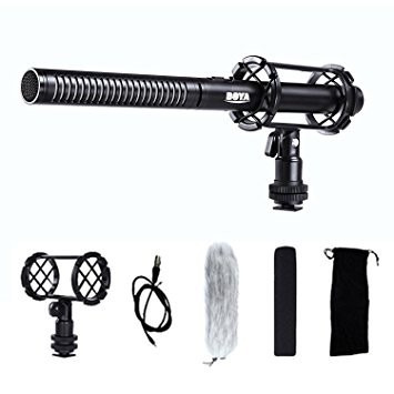 microfone direcional shotgun boya by-pvm1000