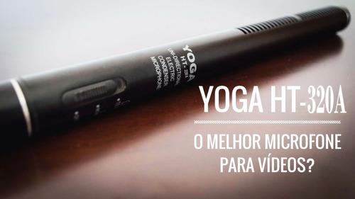 microfone direcional shotgun csr yoga ht-320a (com cachimbo)