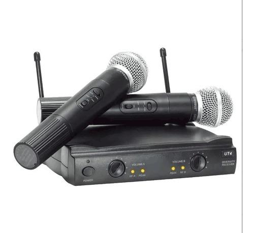 microfone duplo sem fio profissional uhf igreja karaoke