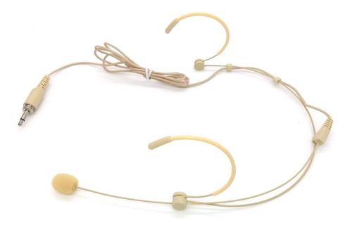microfone headset de cabeça cor da pele p2 c/rosca lyco tag