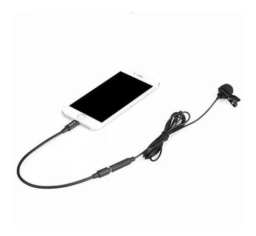 microfone lapela conector lightning para iphone boya by-m2
