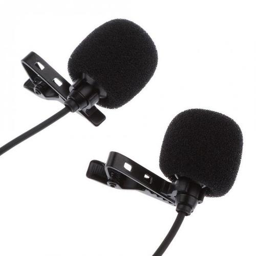 microfone lapela duplo p/celular android.