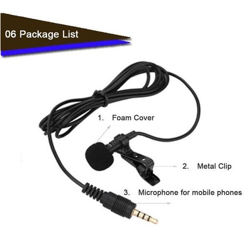 microfone lapela profissional celular iphone android youtube