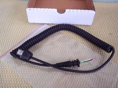 microfone motorola - cabo espiralalado - gm300 - em200 em400