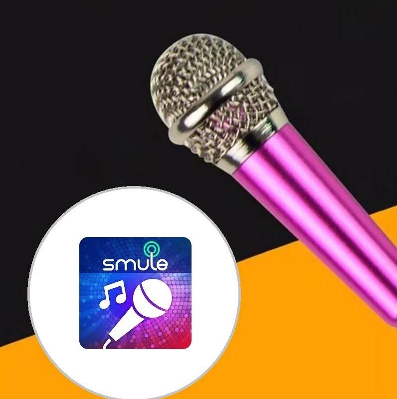 Microfone P/ Celular C/ Suporte E Entrada Fone / Sing! Smule