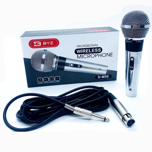 microfone profissional com fio karaoke gracaçao metal dm56