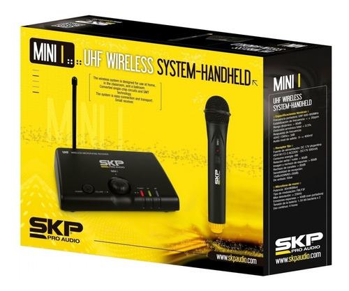 microfone profissional de mão sem fio skp mini i