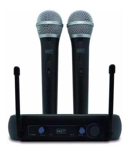 microfone profissional duplo s/ fio uhf padrão shure mxt !!!