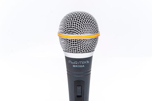 microfone profissional mistermix mr58a fertec som