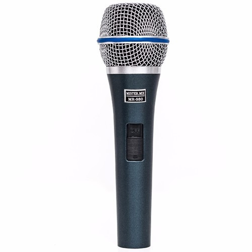 microfone profissional mistermix mr980 fertec som