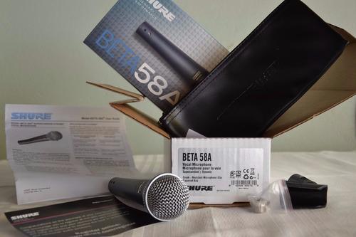 microfone profissional shure