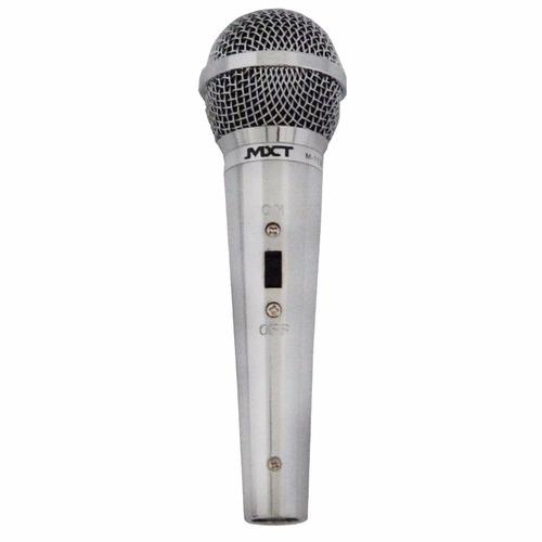 microfone profissional sm58 prata mxt como shure + cabo 4,5m