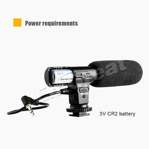 microfone profissional stereo mic-01 nikon canon pentax dslr