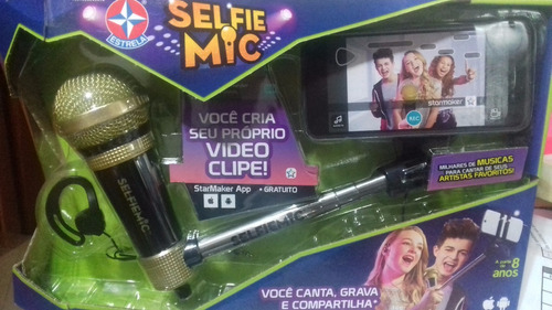 microfone selfie mic dourado da estrela - bonellihq l18