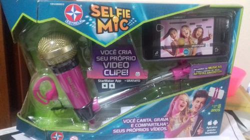 microfone selfie mic rosa da estrela - bonellihq b18