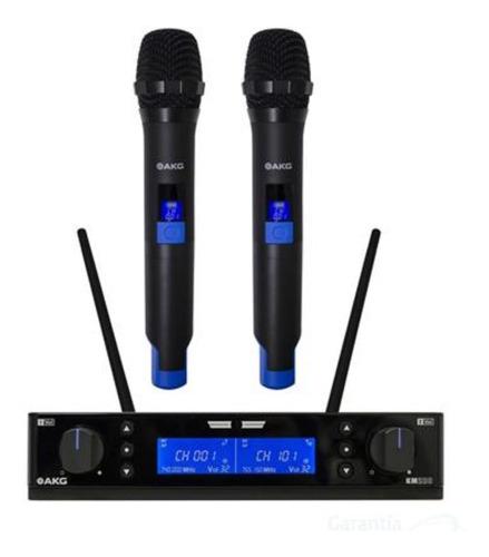 microfone sem fio akg km 200 km200 uhf vocal set original