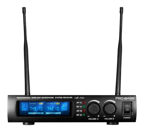 microfone sem fio duplo uhf de mão - probass uf-112