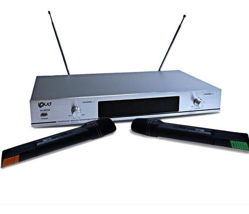 microfone sem fio duplo wireless de mão vhf bivolt até 30m