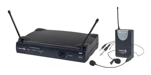 microfone sem fio headset e lapela lyco uh-01h