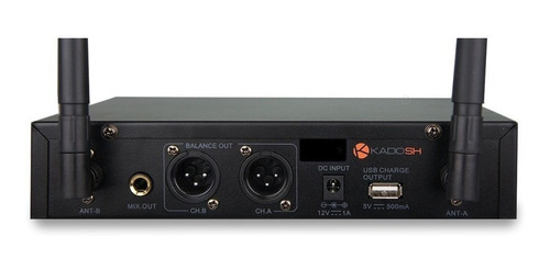 microfone sem fio kadosh k502m uhf duplo digital pro