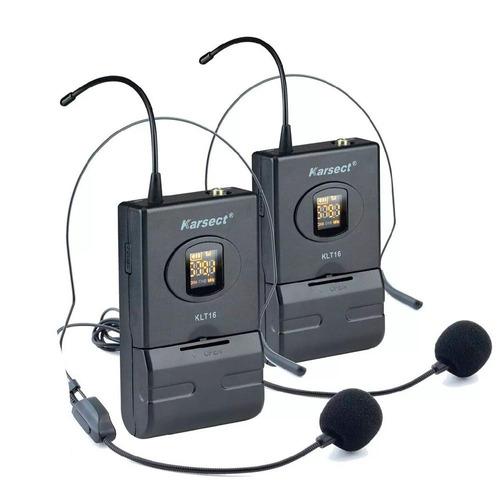 microfone sem fio karsect krd200 dh headset duplo