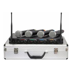 Microfone Sem Fio Profissional 4 Canais + Frete Grátis + Nf