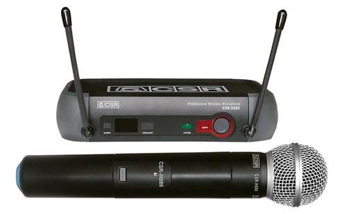microfone sem fio profissional uhf csr-888 - frete grátis