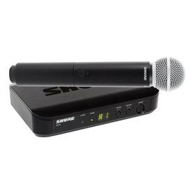Microfone Sem Fio Shure Blx Series Blx24/sm58 Cardióide Preto
