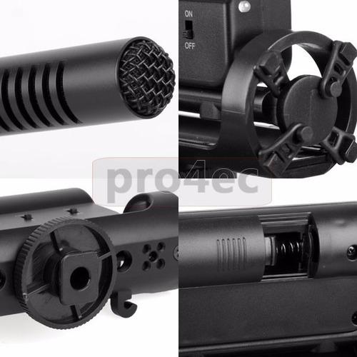microfone sgc-598 dslr canon nikon sony sg 108 profissional