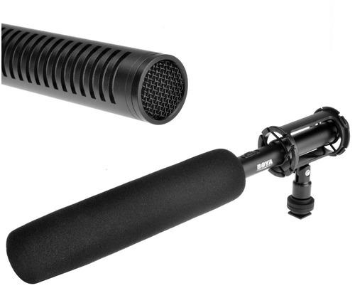 microfone shotgun boya