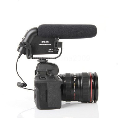 microfone shotgun boya by-vm190