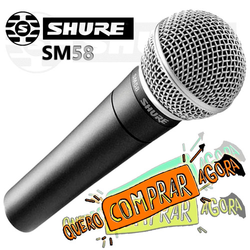 microfone shure sm58- sm 58 - ideal para vocal
