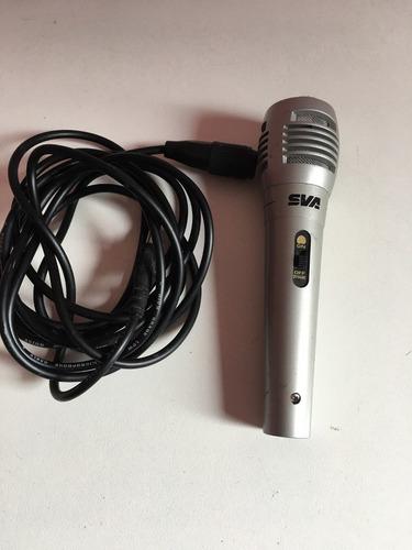 microfone sva q-101 com cabo no estado