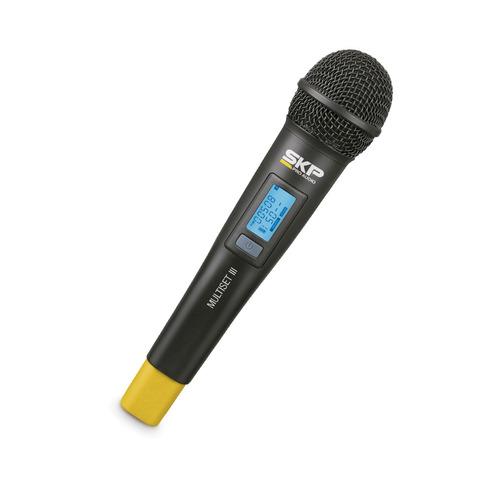 microfone transmissor skp uhf multiset iii frete grátis 12x