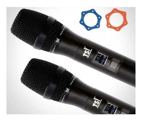 microfone tsi br7000 uhf duplo 300 canais superior tsi 8299
