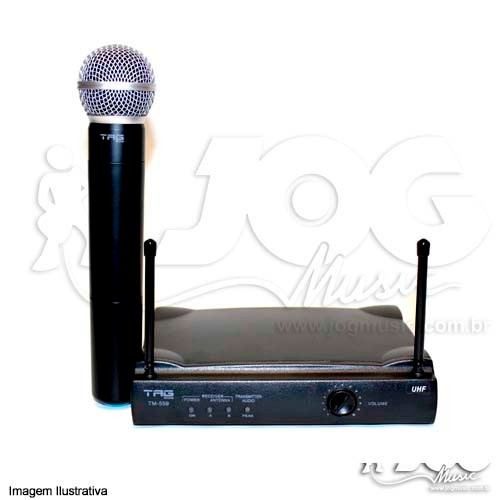 microfone uhf 2 antenas alcance 50 mts