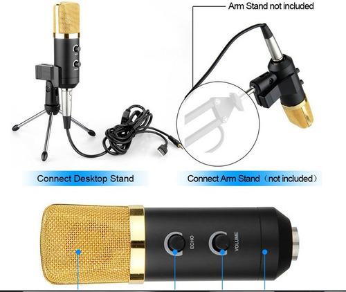 microfone usb condensador gooseneck style com reverb
