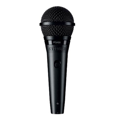 microfone vocal de mão profissional shure pga58-lc promoção