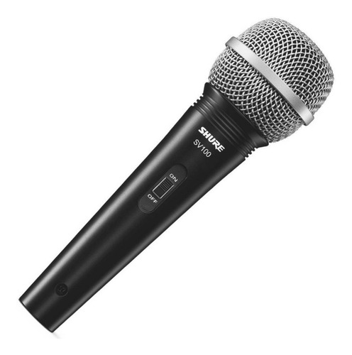 microfone vocal profissional com fio shure sv100 original