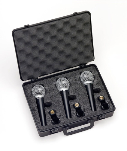 microfones profissionais para vocal maleta com 3 samson r21