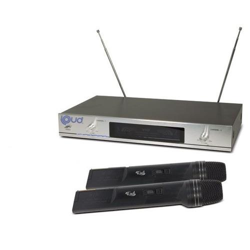 microfones sem fio loud ld-6630 duplo de mão vhf - até 30mt