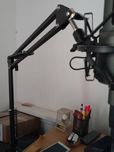 micrófono at2020usb con brazo plegable y filtro antipop