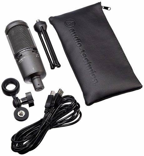 microfono audio-technica at2020usb plus cardioid condenser