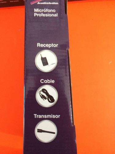 micrófono audiobahn inalámbrico y alambrico amc05ws