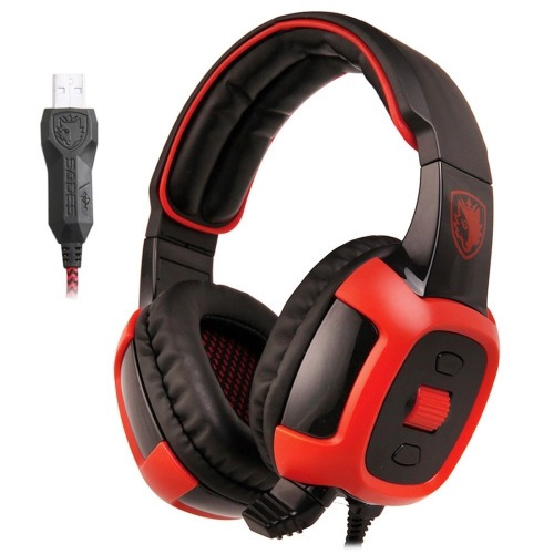 microfono auricular multimedia headset sade sa-906 negro