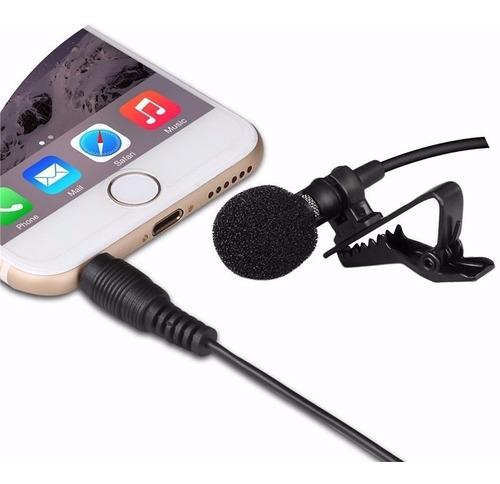 microfono balita lavalier para smartphone conector 3.5 mm