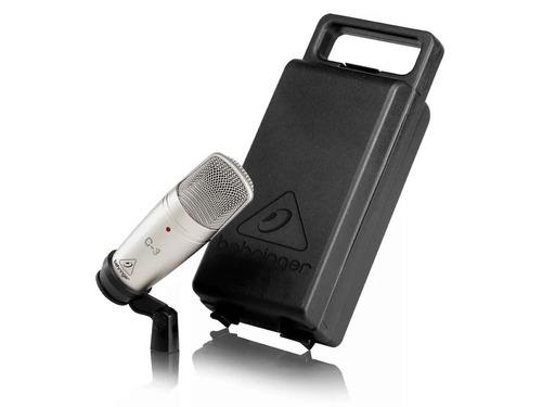 microfono behringer c3 condensador estudio con pipeta