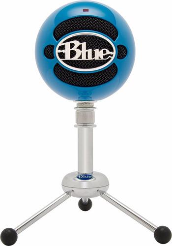 microfono blue snowball usb microphone azul electrico