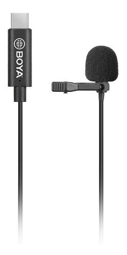 micrófono boya by-m3 clip-on digital usb tipo c para android