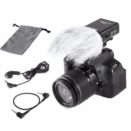 micrófono boya para cámaras nikon canon etc. fotoplus